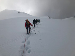 Kurz vor dem Gipfelgrat