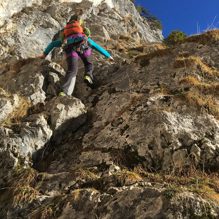Die zweite Tour mit Kletterei