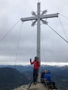 Astrid mit Manni am Gipfel