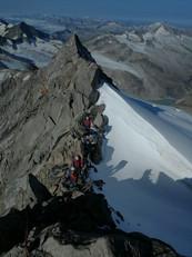 Die Kletterei beginnt