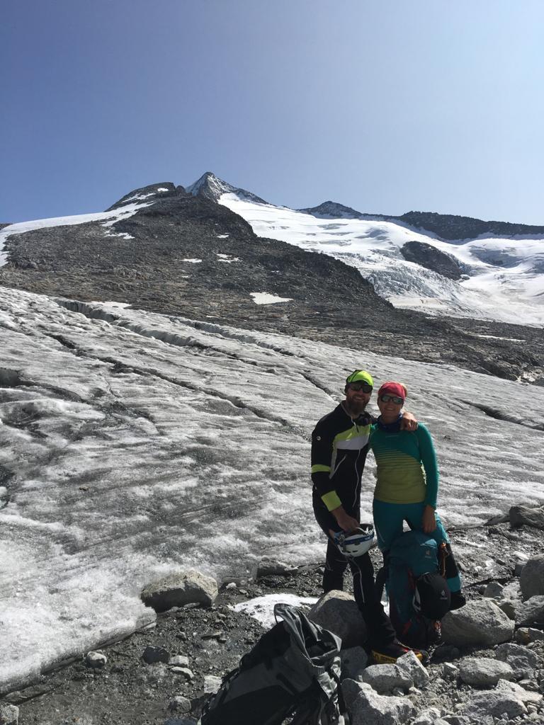 Alex und Manuel am Gletscherrand