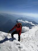 Astrid auf den letzten Metern zum Gipfel
