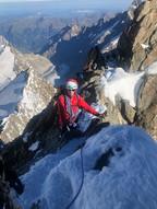 Astrid im Gipfelgrat