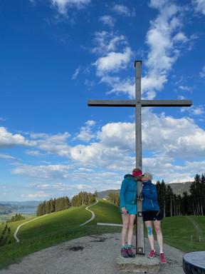 Am Gipfel des Hündle in Oberstaufen