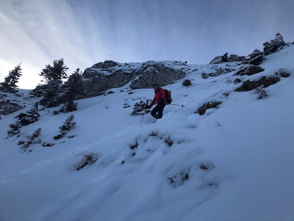 Astrid im Abstieg