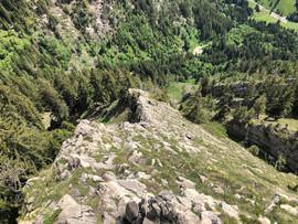 Ein Blick zurück über den Grat