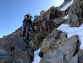 Einige leichte Kletterpassagen...
