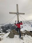 Astrid und Manni am Gipfel, 1985m