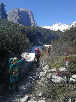 Aufstieg Simonyhütte