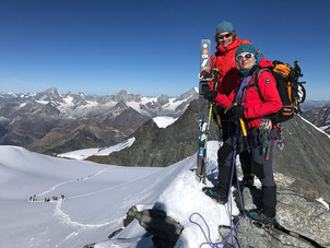 Gipfel Strahlhorn, 4190m