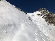 Das letzte Steilstück im Abstieg