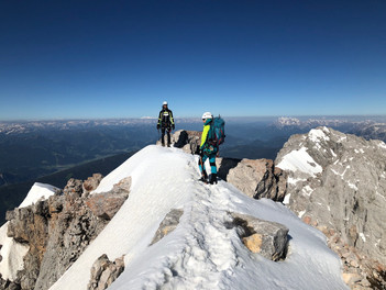 Sieht nach Bergsteigen aus