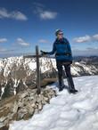Astrid mit Manni am Gipfel des Frieder, 2050m