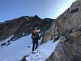 Die Route am Westgrat