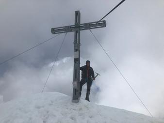 Thomas am Gipfel, 3606m