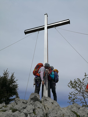 Am Gipfel des Burgberger Hörnles