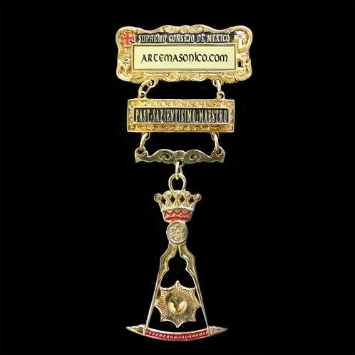 Medalla Past Sapientisimo Maestro. Doble Vista