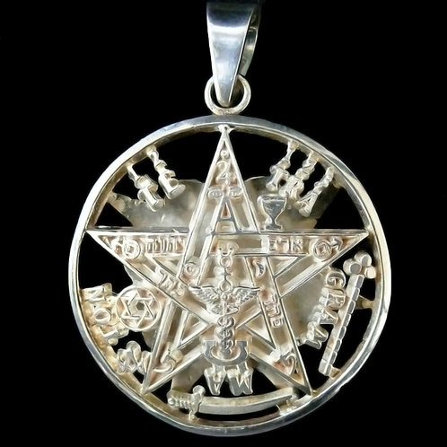 Dije Tetragramaton Doble Vista
