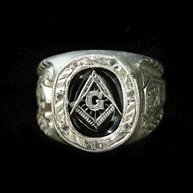 Masonic Ring Silver Freemason