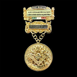 Past Master Medal Gold Plated