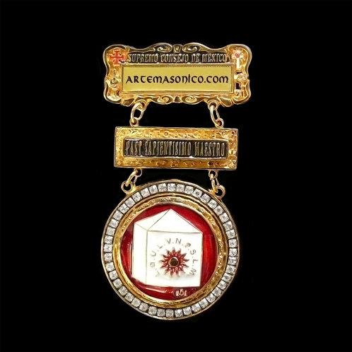 Medalla Past Sapientisimo Maestro