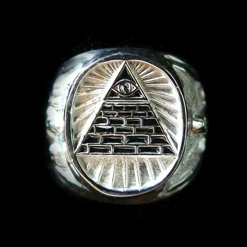 Anillo Piramide Plata