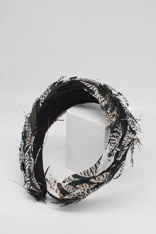 Haarreifen mit Diamantfasanfedern