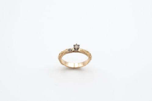 Weltenbummler-Ring mit Diamanten