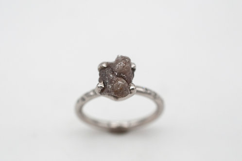 Ring Kryptonit II  (Platin, Rohdiamant,Diamanten)