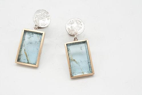 Weltenbummler Ohrringe mit Aquamarine