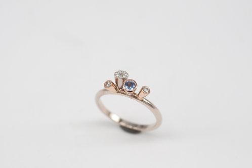 Tütenring + Saphir & Diamanten