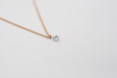 Goldkette mit durchbohrten Diamanten