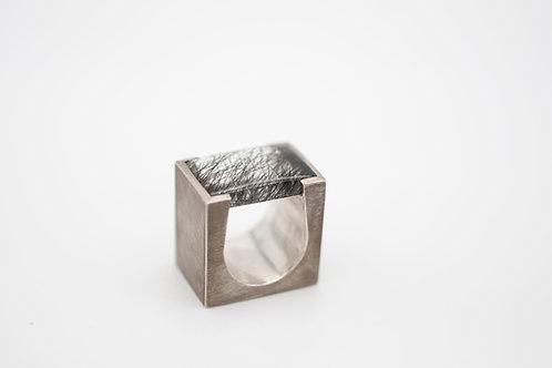 Silberring mit Turmalinquarz