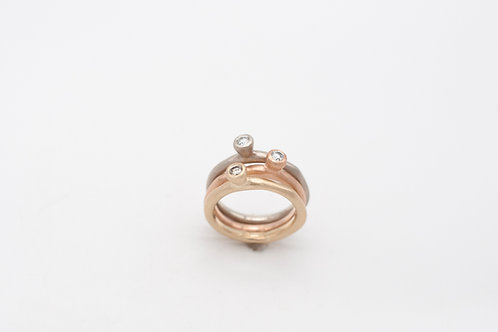 Ring Pebbles Gold mit Diamant