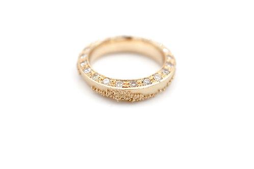 Weltenbummler-Ring mit Rosecut Diamanten