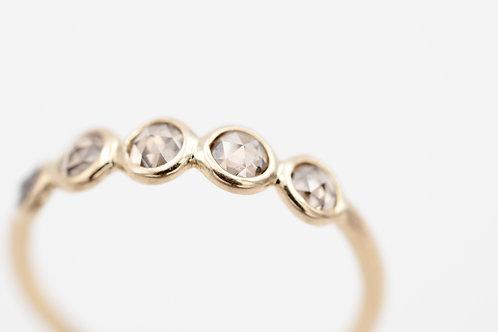 Ring mit Rosenschliff Diamanten