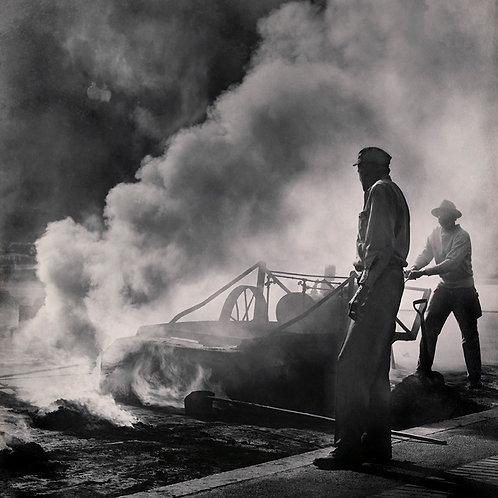 O asfalto queima