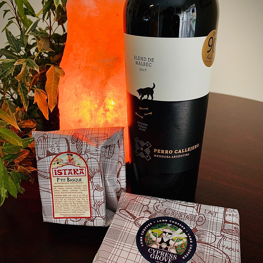 Cheese and Wine Delivery! Wednesday 4/8