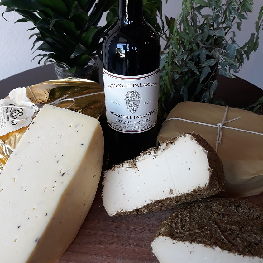 Saturday Italian Wine and Cheese Delivery! 7/11