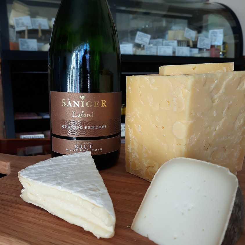 Christmas Sparkling Wine and Cheese Gift Set