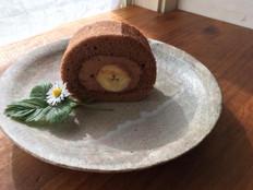 ショコラバナナロールケーキ