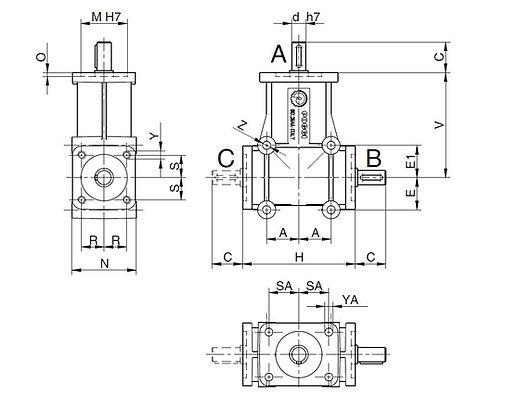Poggi 2000 series dimensions