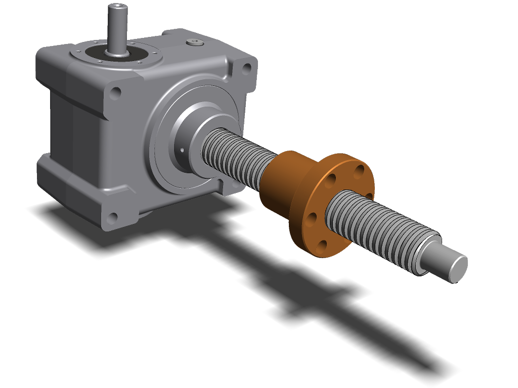 MecVel Mechanical Rotating Screw Jack