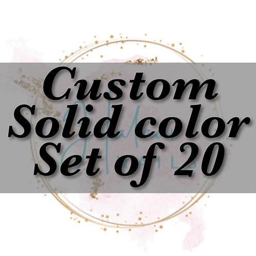Custom Solid color nails set of 20