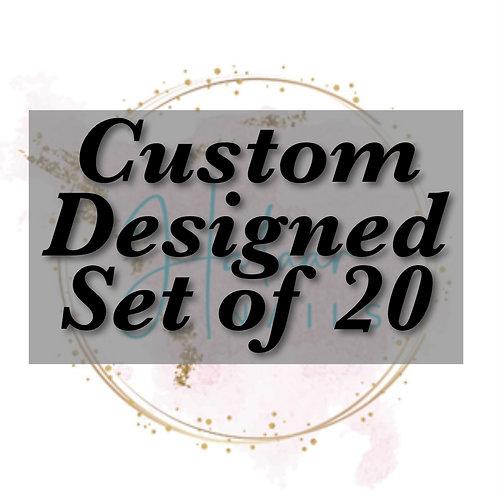 Custom Designed set of 20 nails