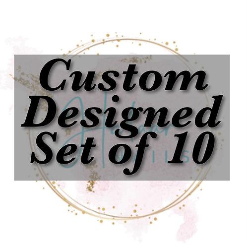 Custom Designed set of 10 nails