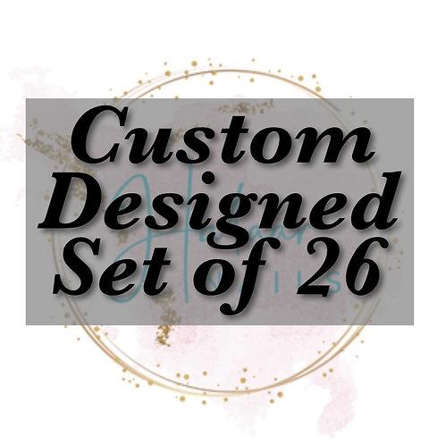 Custom Designed set of 26 nails