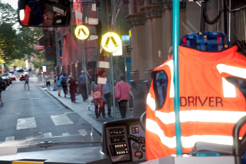 THE f WORD public program // Technopia Tours Feminist Art Bus 2014 // Flinders Lane, Melbourne // Photograph by Kate Robertson
