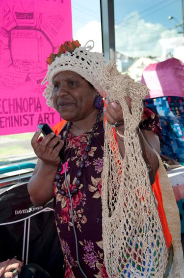 THE f WORD public program // Technopia Tours Feminist Art Bus 2014 // Vicki Kinnai // Photograph by Kate Robertson
