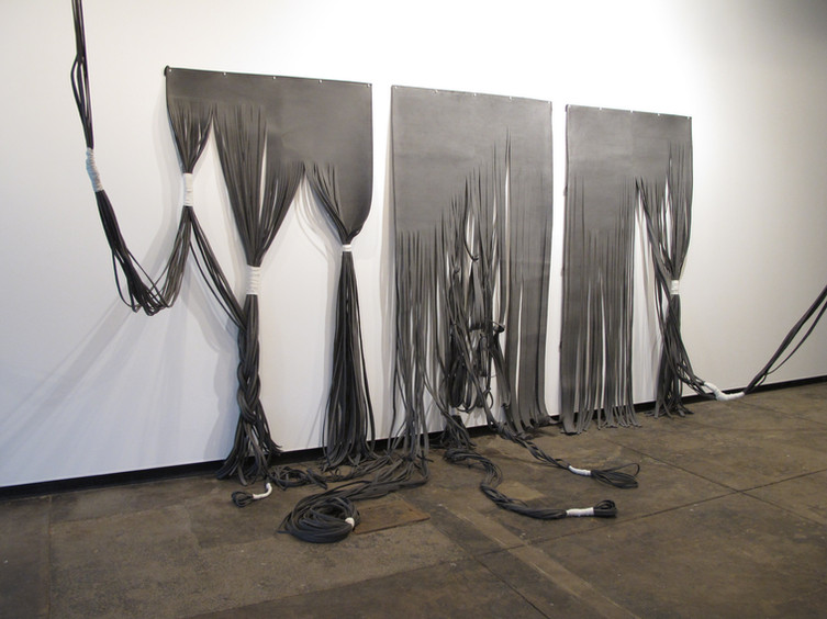 'Untitled' (2010) // Rubber, cable ties, rope, recycled leather, plastic
